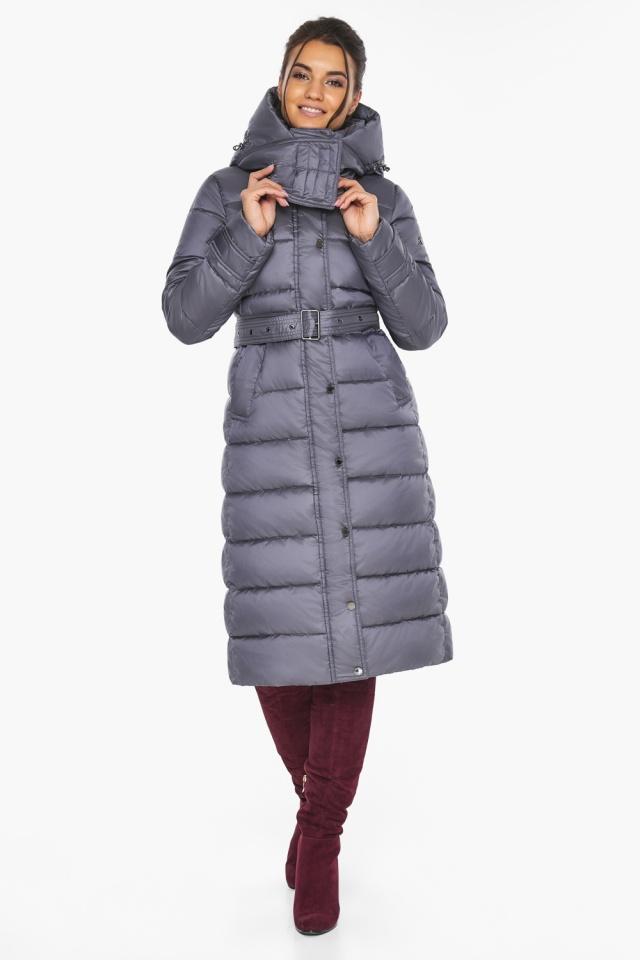 """Жемчужно-серая куртка с манжетами женская модель 43110 Braggart """"Angel's Fluff"""" фото 6"""