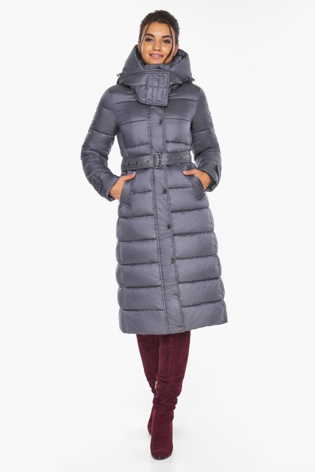 """Жемчужно-серая куртка с манжетами женская модель 43110 Braggart """"Angel's Fluff"""" фото 2"""