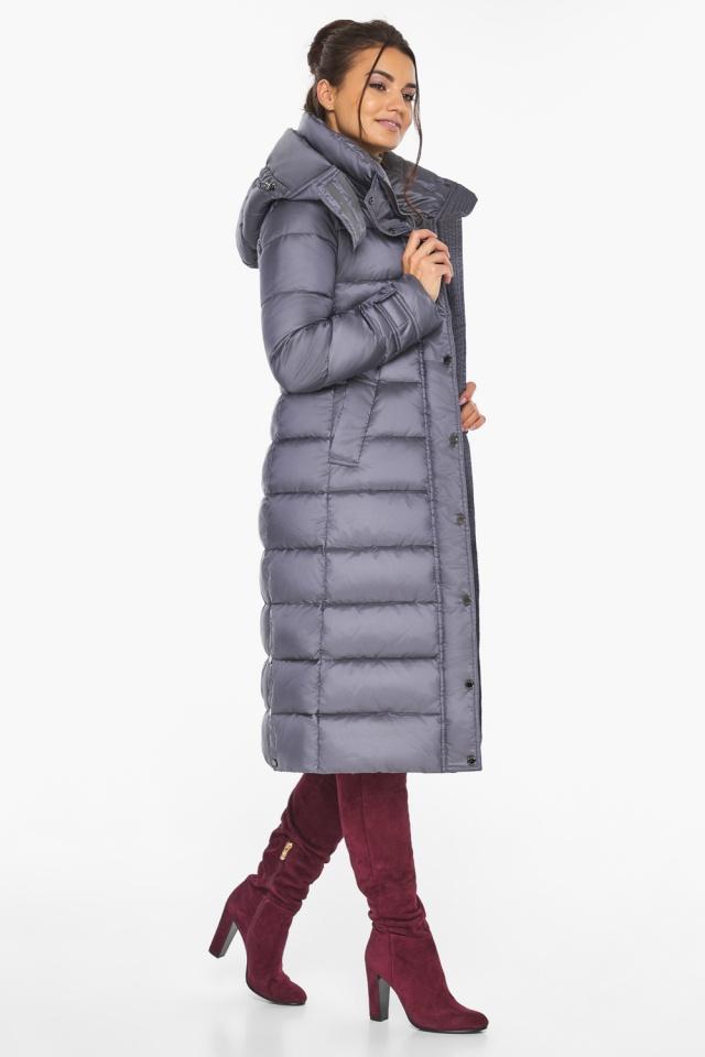 """Жемчужно-серая куртка с манжетами женская модель 43110 Braggart """"Angel's Fluff"""" фото 3"""