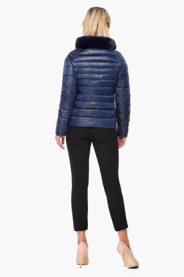 """Короткая женская осенне-весенняя куртка сапфировая модель 40267 Braggart """"Angel's Fluff"""" фото 5"""