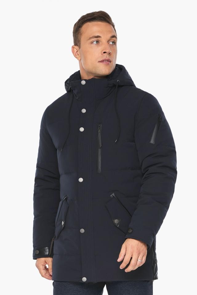 """Куртка – воздуховик синего цвета мужской на зиму модель 19650 Braggart """"Angel's Fluff Man"""" фото 5"""