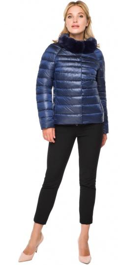 """Короткая женская осенне-весенняя куртка сапфировая модель 40267 Braggart """"Angel's Fluff"""" фото 1"""