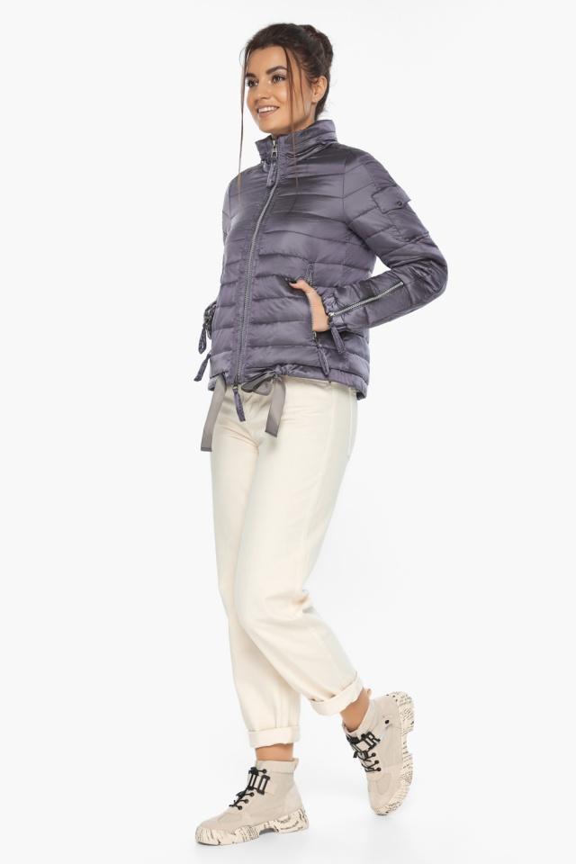 """Куртка лавандовая женская модная на осень-весну модель 62574 Braggart """"Angel's Fluff"""" фото 4"""