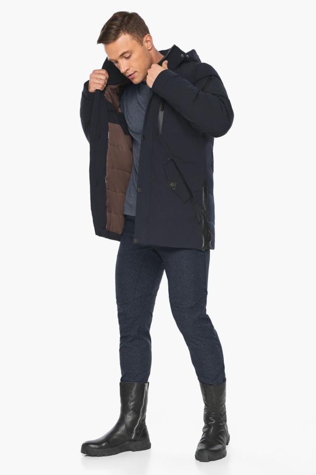 """Куртка – воздуховик синего цвета мужской на зиму модель 19650 Braggart """"Angel's Fluff Man"""" фото 4"""