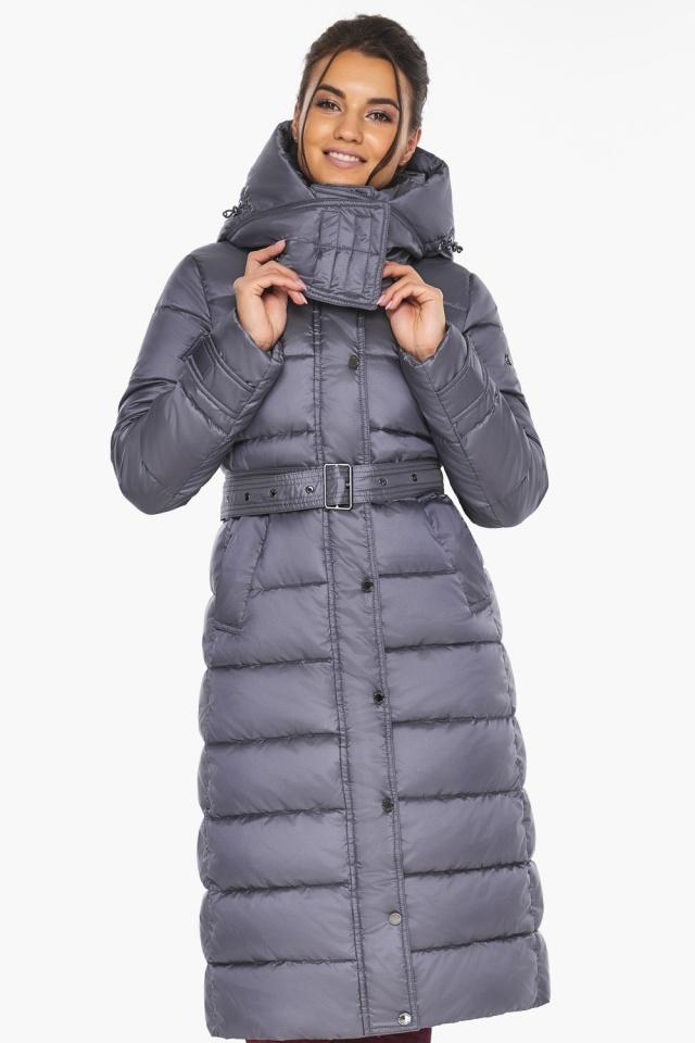 """Жемчужно-серая куртка с манжетами женская модель 43110 Braggart """"Angel's Fluff"""" фото 4"""