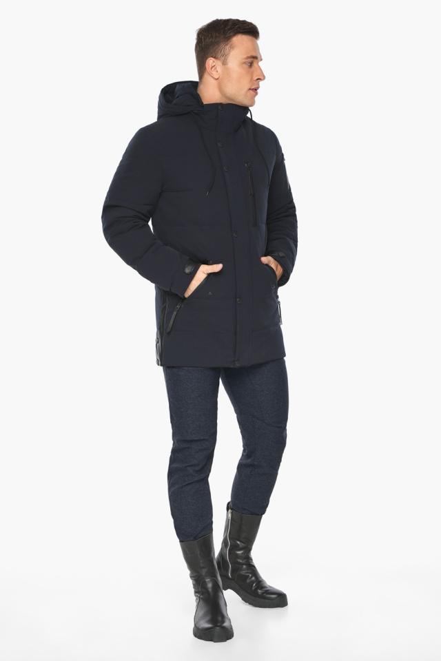 """Куртка – воздуховик синего цвета мужской на зиму модель 19650 Braggart """"Angel's Fluff Man"""" фото 7"""