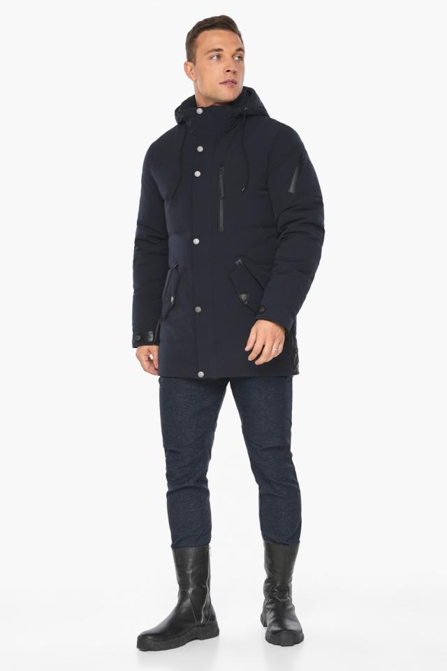 """Куртка – воздуховик синего цвета мужской на зиму модель 19650 Braggart """"Angel's Fluff Man"""" фото 2"""