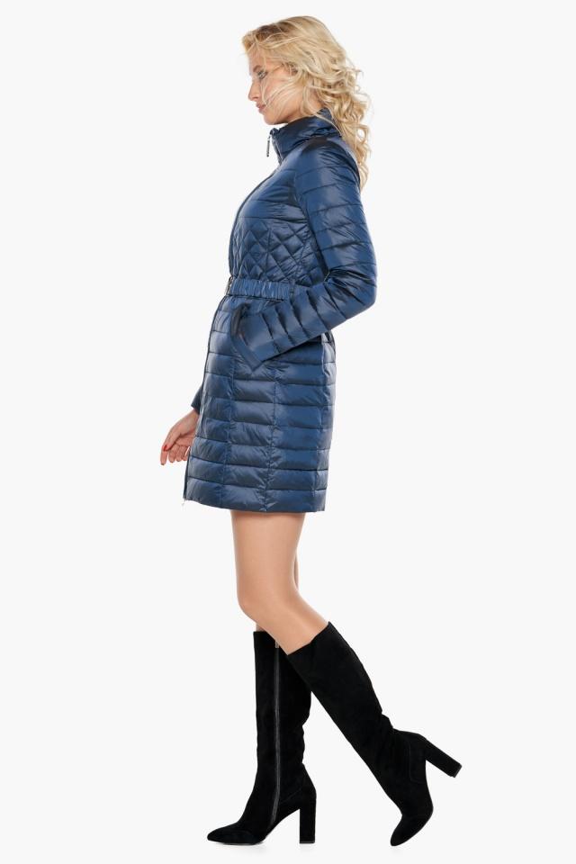"""Женская куртка осенне-весенняя модная цвет темная лазурь модель 39002 Braggart """"Angel's Fluff"""" фото 3"""