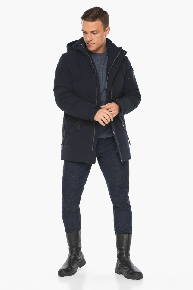 """Куртка – воздуховик синего цвета мужской на зиму модель 19650 Braggart """"Angel's Fluff Man"""" фото 6"""