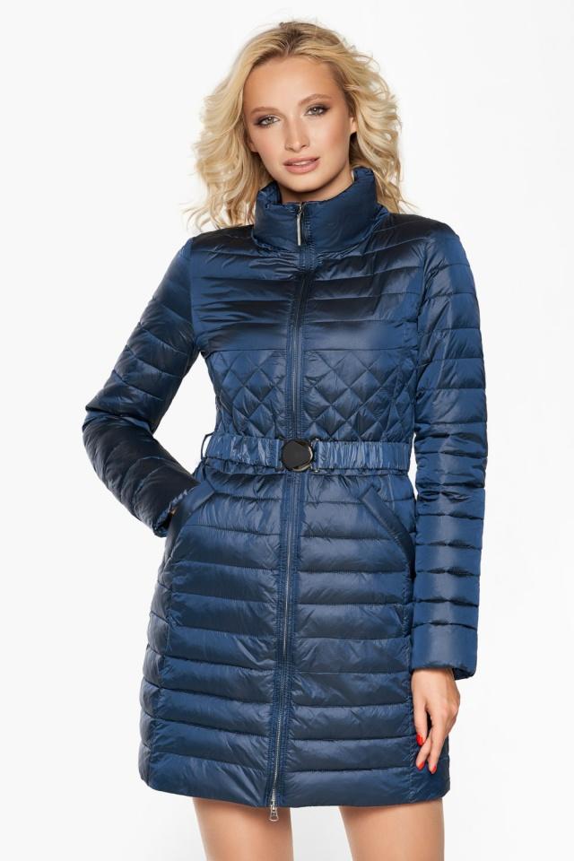 """Женская куртка осенне-весенняя модная цвет темная лазурь модель 39002 Braggart """"Angel's Fluff"""" фото 4"""