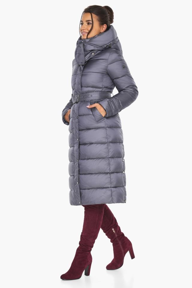 """Жемчужно-серая куртка с манжетами женская модель 43110 Braggart """"Angel's Fluff"""" фото 5"""
