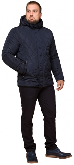 "Синяя комфортная мужская куртка на зиму модель 19121 Braggart ""Dress Code"" фото 1"