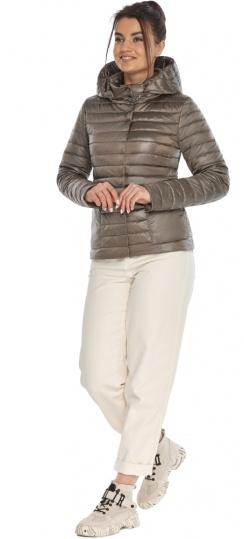 """Капучиновая куртка женская осенне-весенняя со съемным капюшоном модель 67510 Braggart """"Angel's Fluff"""" фото 1"""