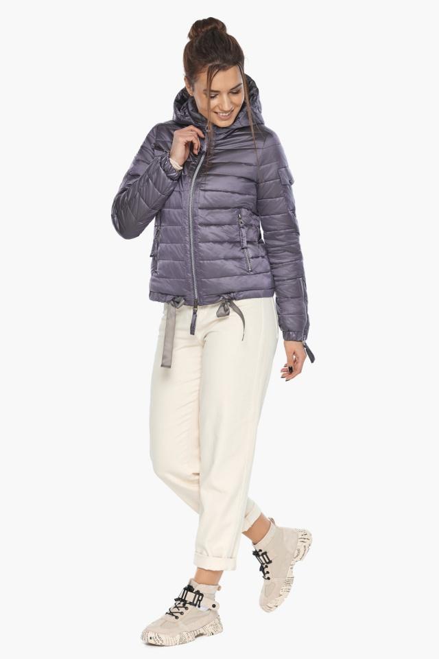"""Куртка лавандовая женская модная на осень-весну модель 62574 Braggart """"Angel's Fluff"""" фото 2"""