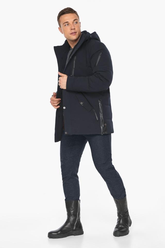 """Куртка – воздуховик синего цвета мужской на зиму модель 19650 Braggart """"Angel's Fluff Man"""" фото 3"""