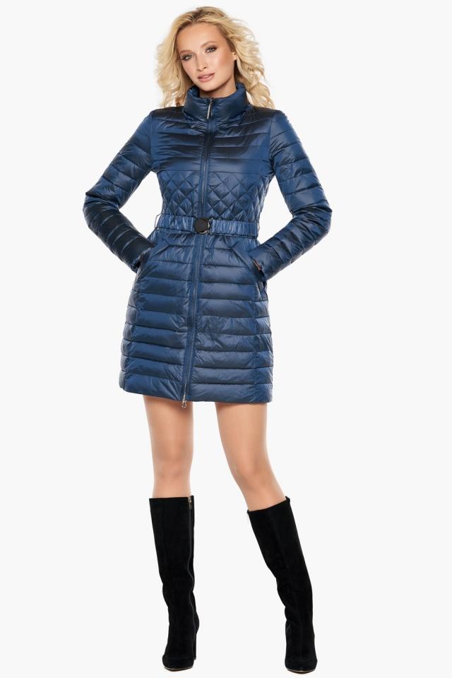 """Женская куртка осенне-весенняя модная цвет темная лазурь модель 39002 Braggart """"Angel's Fluff"""" фото 2"""