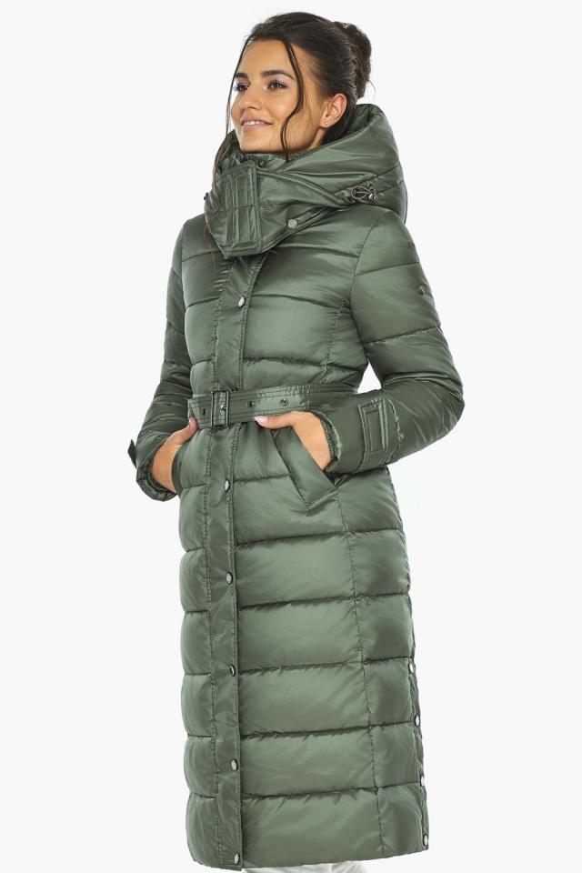 """Оливкова куртка з капюшоном жіноча модель 43110 Braggart """"Angel's Fluff"""" фото 4"""