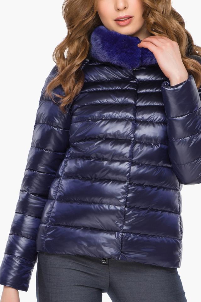 """Фиолетовая женская куртка на молнии осенне-весенняя модель 40267 Braggart """"Angel's Fluff"""" фото 6"""