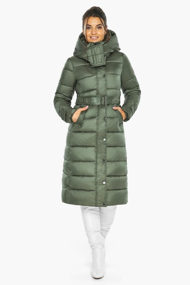 """Оливкова куртка з капюшоном жіноча модель 43110 Braggart """"Angel's Fluff"""" фото 3"""