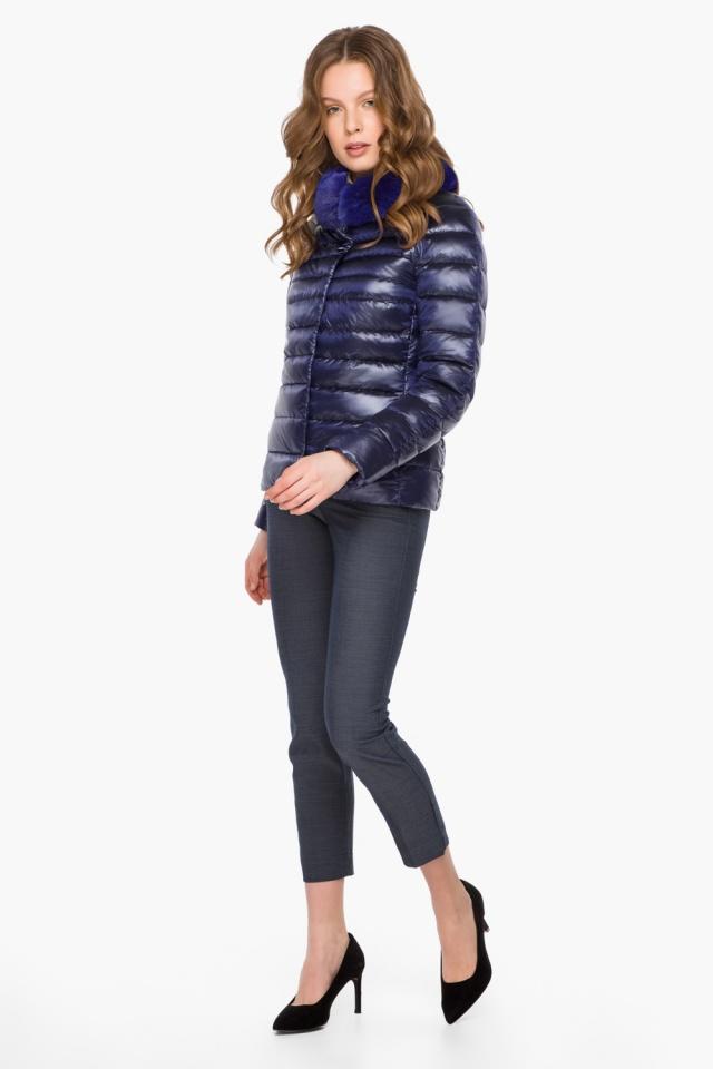 """Фиолетовая женская куртка на молнии осенне-весенняя модель 40267 Braggart """"Angel's Fluff"""" фото 4"""