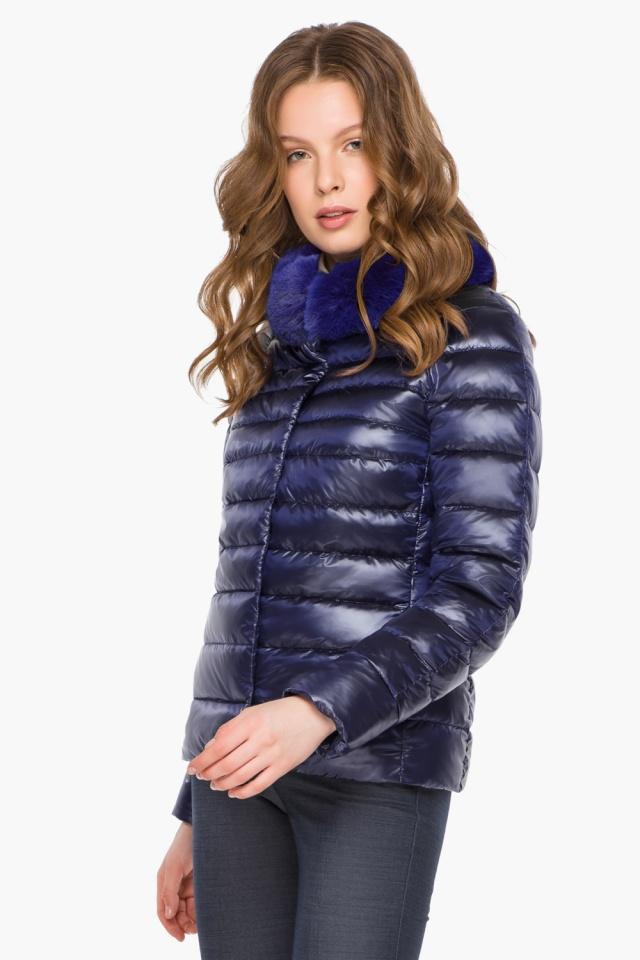 """Фиолетовая женская куртка на молнии осенне-весенняя модель 40267 Braggart """"Angel's Fluff"""" фото 3"""