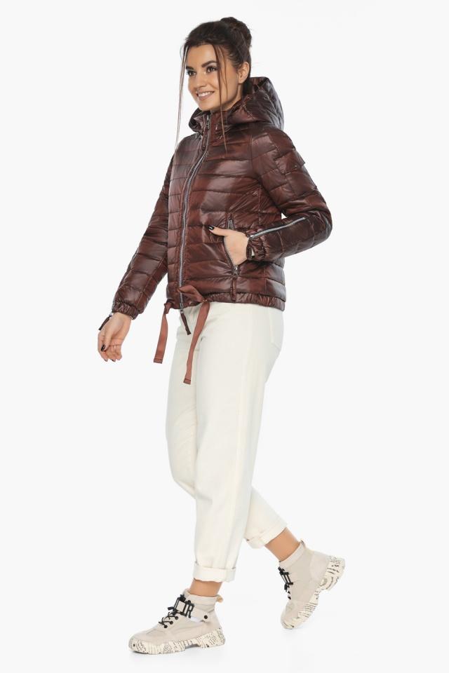 """Практичная куртка женская осенне-весенняя каштановая модель 62574 Braggart """"Angel's Fluff"""" фото 6"""