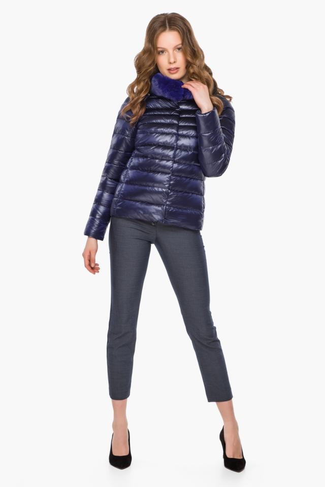 """Фиолетовая женская куртка на молнии осенне-весенняя модель 40267 Braggart """"Angel's Fluff"""" фото 2"""