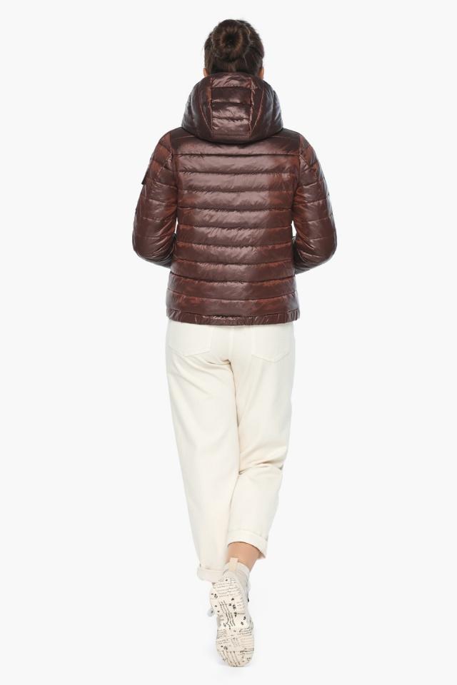 """Практичная куртка женская осенне-весенняя каштановая модель 62574 Braggart """"Angel's Fluff"""" фото 7"""