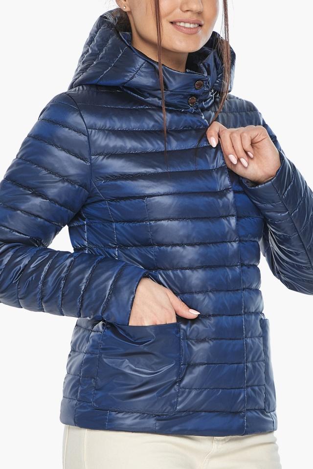 """Куртка сапфировая женская осенне-весенняя с внешними карманами модель 67510 Braggart """"Angel's Fluff"""" фото 7"""