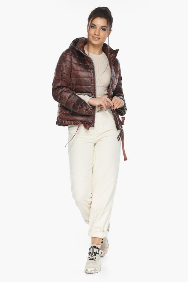 """Практичная куртка женская осенне-весенняя каштановая модель 62574 Braggart """"Angel's Fluff"""" фото 5"""