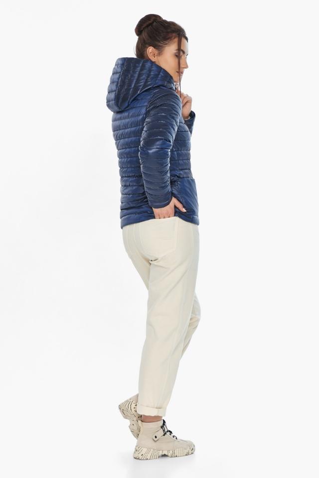 """Куртка сапфировая женская осенне-весенняя с внешними карманами модель 67510 Braggart """"Angel's Fluff"""" фото 6"""