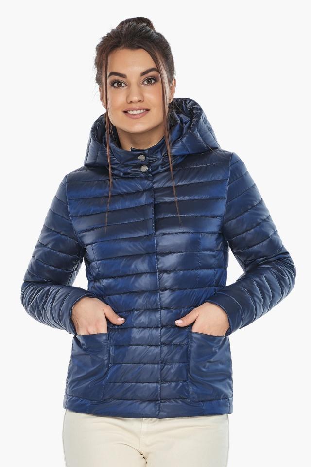 """Куртка сапфировая женская осенне-весенняя с внешними карманами модель 67510 Braggart """"Angel's Fluff"""" фото 5"""