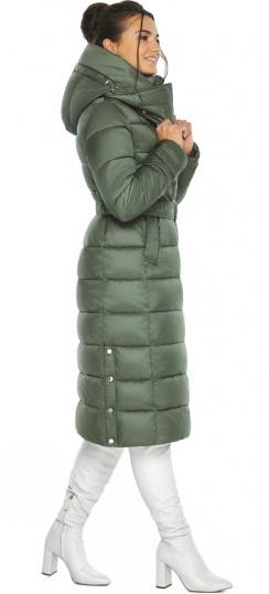 """Оливковая куртка с капюшоном женская модель 43110 Braggart """"Angel's Fluff"""" фото 1"""
