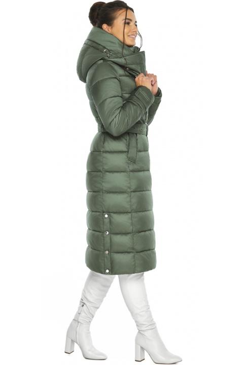 """Оливкова куртка з капюшоном жіноча модель 43110 Braggart """"Angel's Fluff"""" фото 1"""
