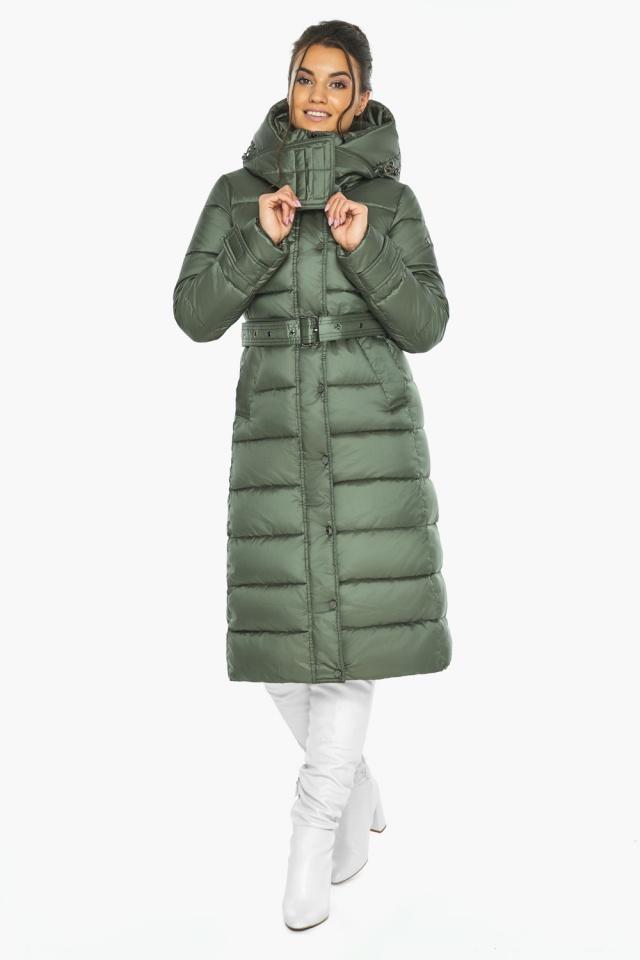 """Оливкова куртка з капюшоном жіноча модель 43110 Braggart """"Angel's Fluff"""" фото 6"""