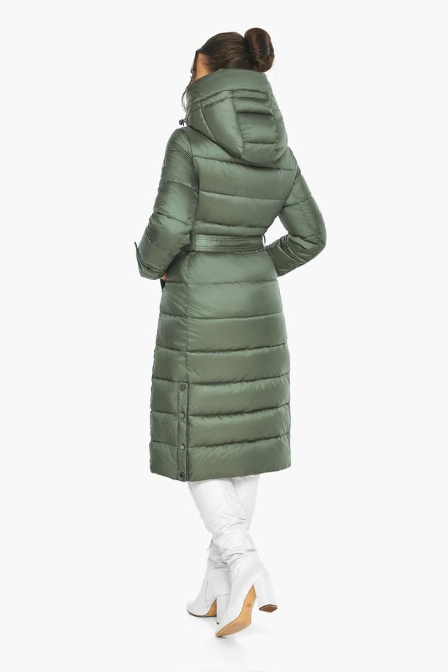 """Оливкова куртка з капюшоном жіноча модель 43110 Braggart """"Angel's Fluff"""" фото 8"""