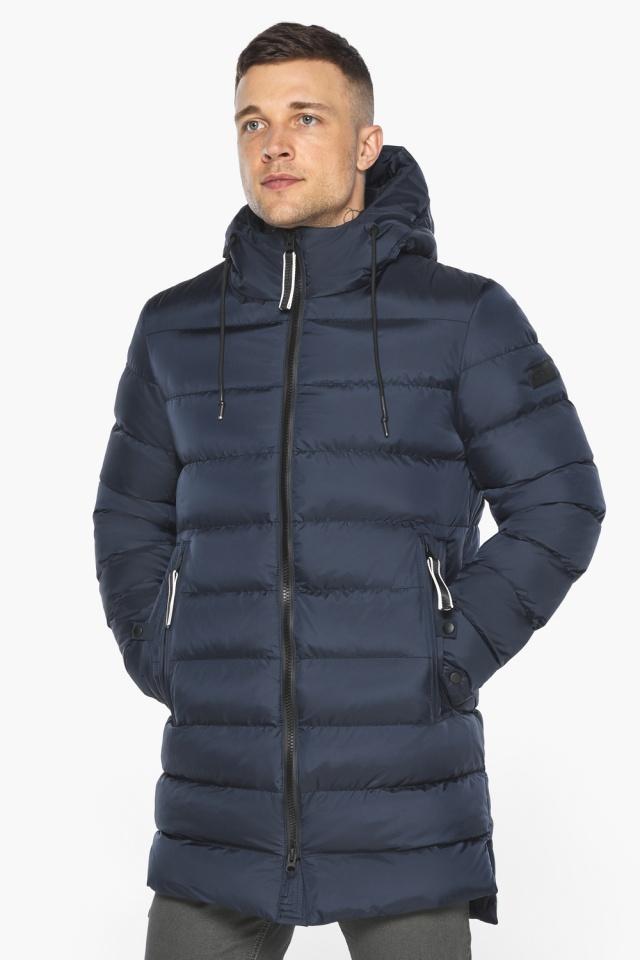 "Зимняя практичная куртка мужская тёмно-синяя модель 49008 Braggart ""Aggressive"" фото 5"