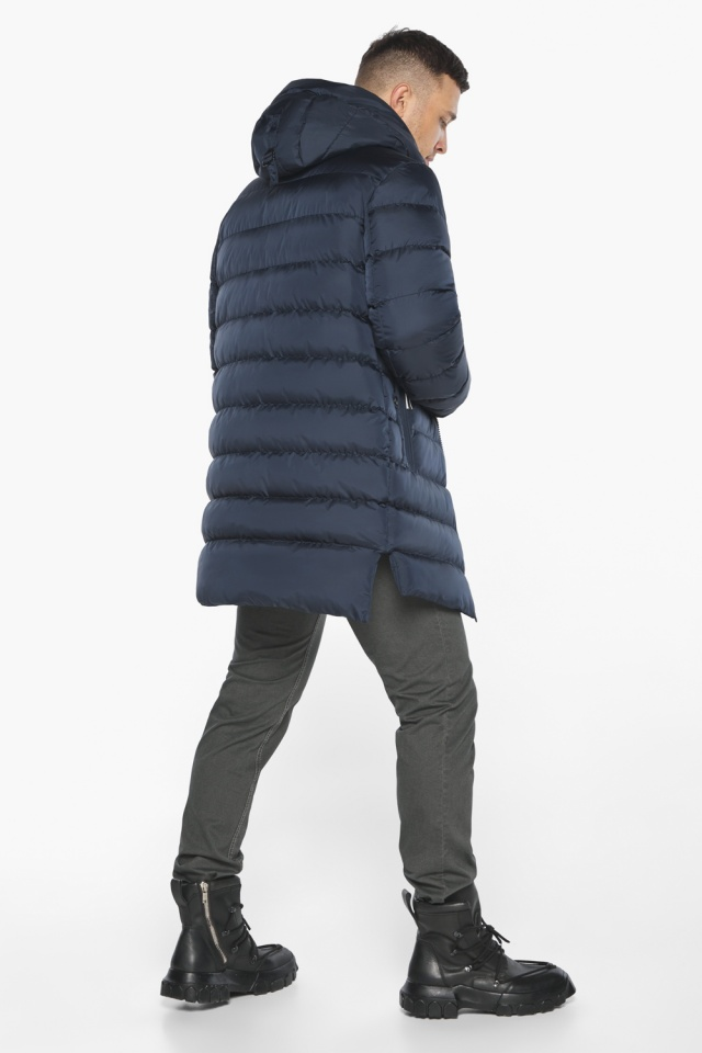 "Зимняя практичная куртка мужская тёмно-синяя модель 49008 Braggart ""Aggressive"" фото 8"
