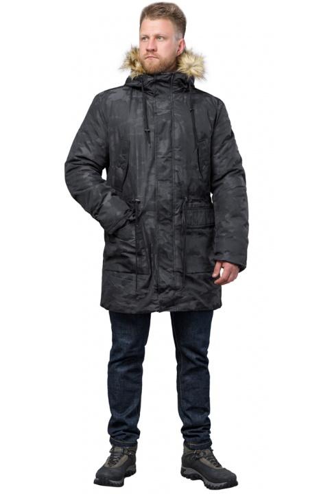 Зимняя дизайнерская парка для мужчин цвет черный модель 72315 Tiger Force фото 1