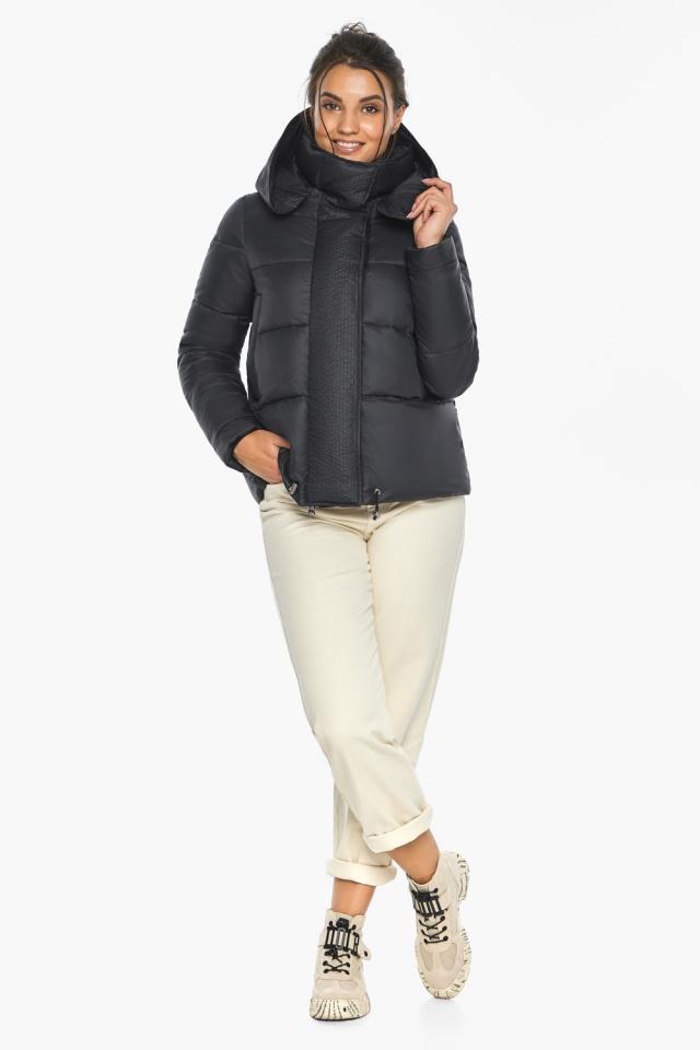 """Куртка черная женская фирменная модель 43560 Braggart """"Angel's Fluff"""" фото 6"""