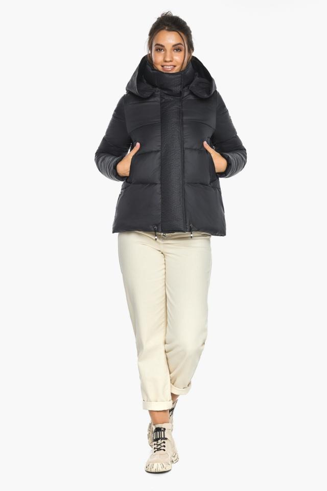 """Куртка черная женская фирменная модель 43560 Braggart """"Angel's Fluff"""" фото 7"""