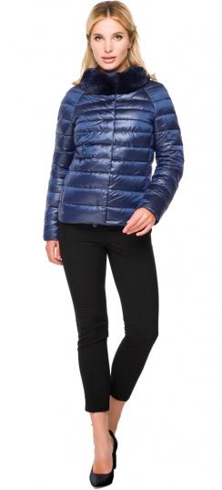 """Женская осенне-весенняя куртка с брендовой фурнитурой сапфировая модель 40267 Braggart """"Angel's Fluff"""" фото 1"""