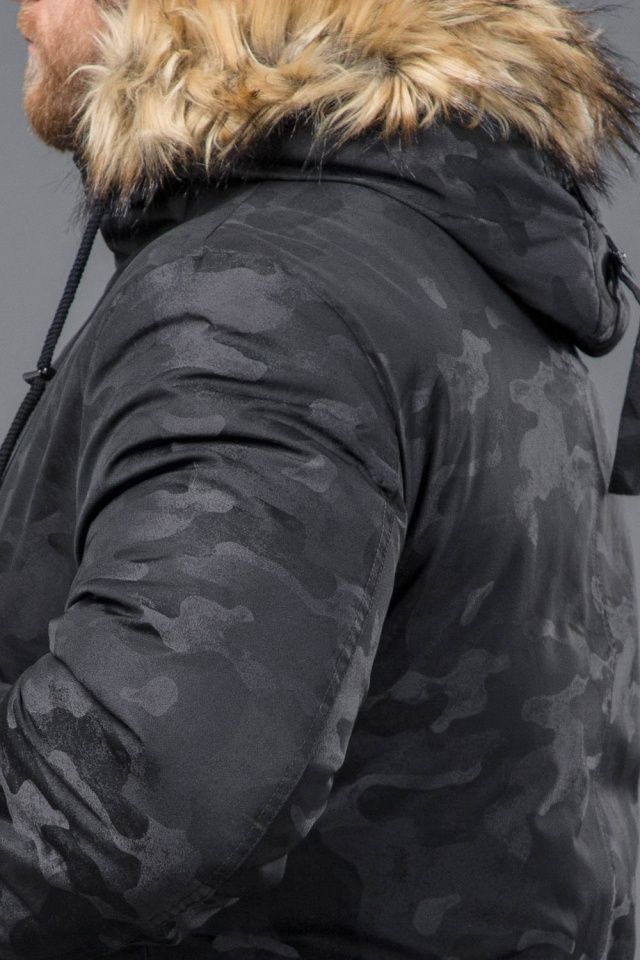 Зимняя дизайнерская парка для мужчин цвет черный модель 72315 Tiger Force фото 8