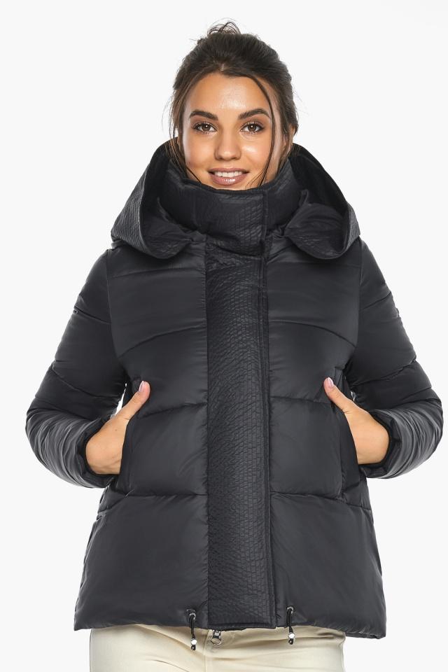 """Куртка черная женская фирменная модель 43560 Braggart """"Angel's Fluff"""" фото 4"""