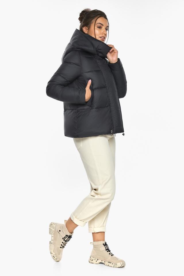 """Куртка черная женская фирменная модель 43560 Braggart """"Angel's Fluff"""" фото 8"""