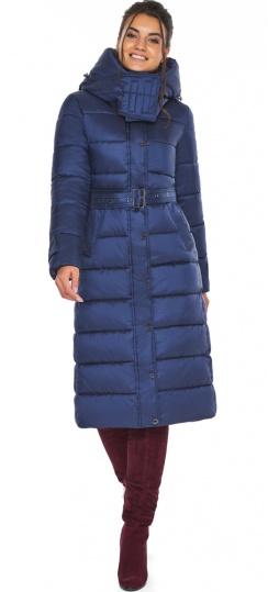 """Куртка длинная женская цвет синий бархат модель 43110 Braggart """"Angel's Fluff"""" фото 1"""
