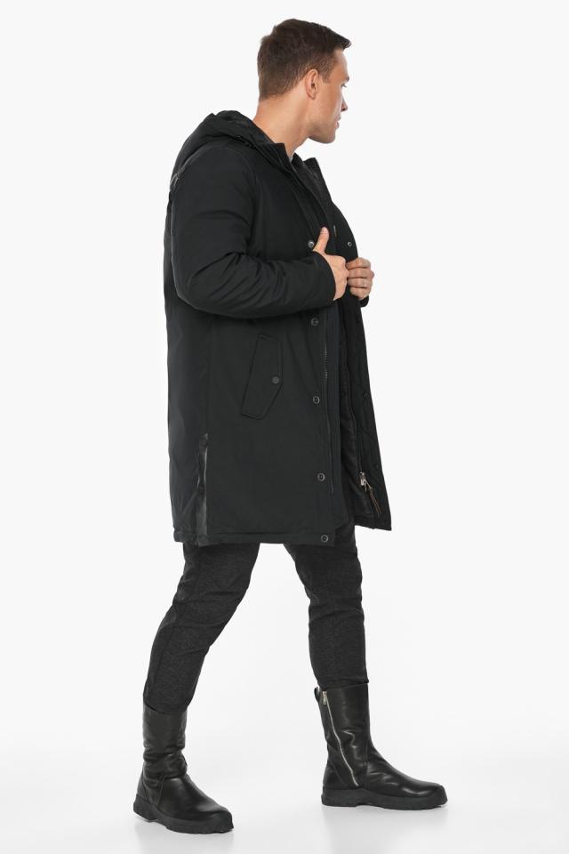 """Парка – воздуховик стильный зимний мужской чёрный модель 38012 Braggart """"Angel's Fluff Man"""" фото 6"""