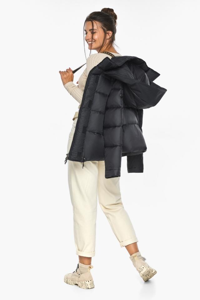"""Куртка черная женская фирменная модель 43560 Braggart """"Angel's Fluff"""" фото 5"""