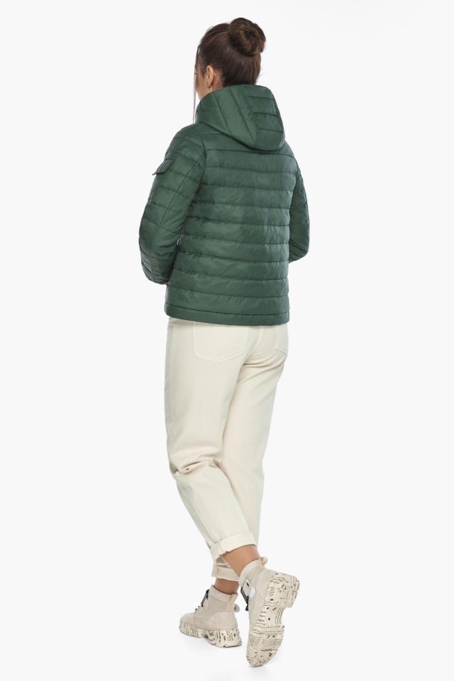 """Фирменная куртка женская на весну нефритовая модель 62574 Braggart """"Angel's Fluff"""" фото 6"""