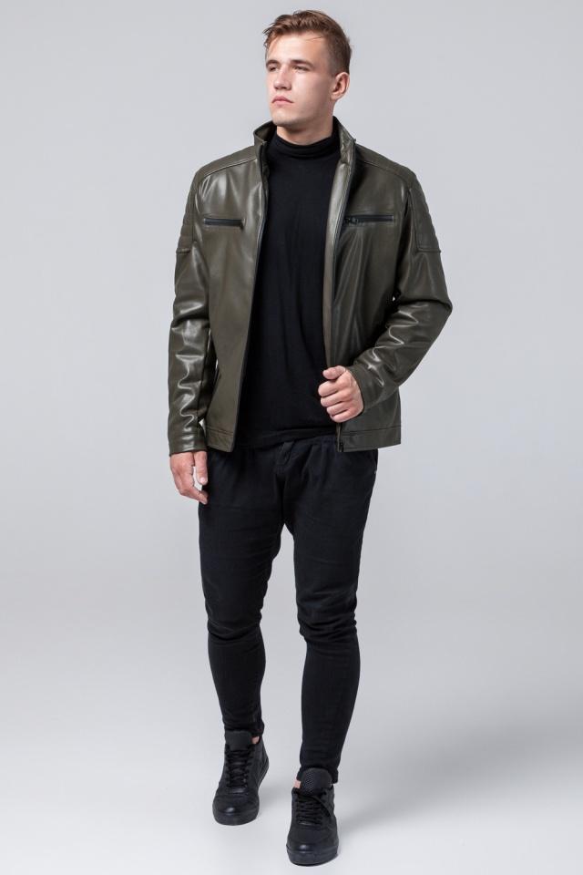 """Куртка из искусственной кожи цвет хаки модель 2612 Braggart """"Youth"""" фото 3"""